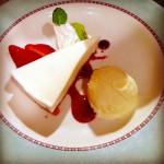 ケーキセット(レアチーズ)